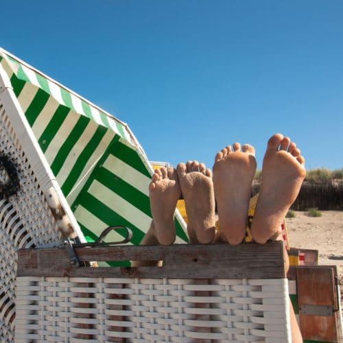 Sonnenbaden Strand Harlesiel